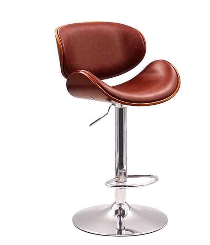 Modern Pu Leather Seat And Back, Swivel Bar Stool
