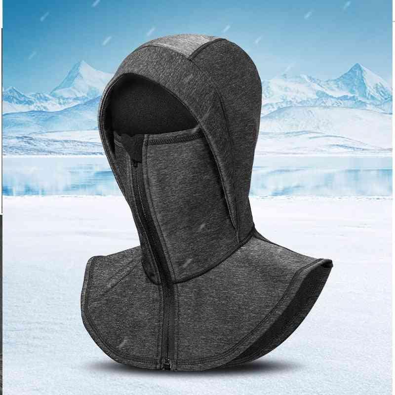 Windproof Skiing Running Cap, Thermal Fleece Snowboarding Cycling Neck Warm Headgear Mask