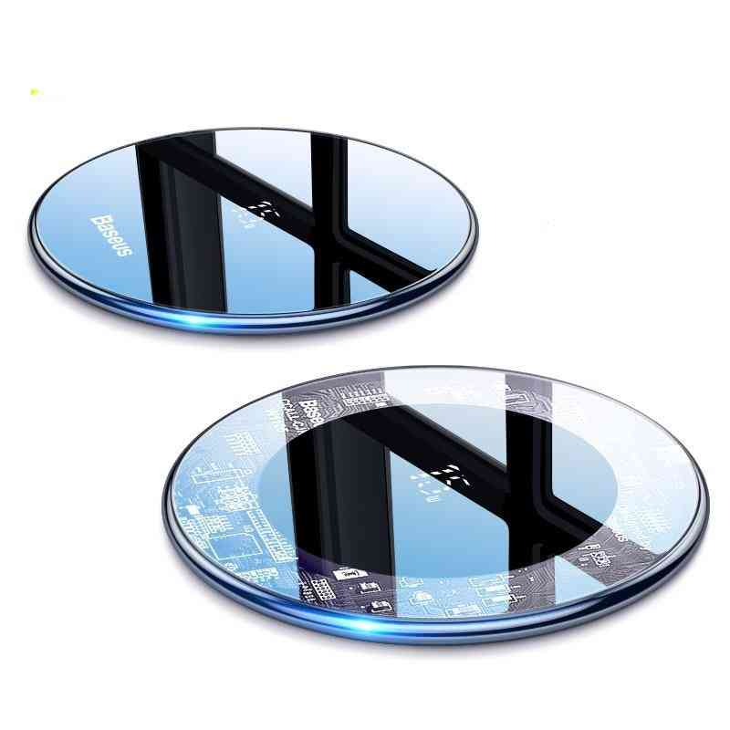 15w, Induction Fast Wireless Charging Pad For Samsung Xiaomi