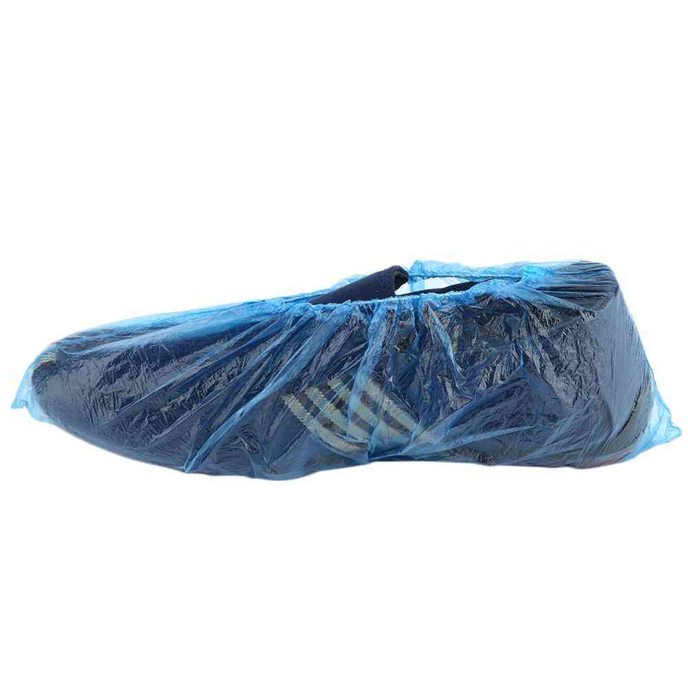 Disposable Plastic Shoe Covers, Rooms Outdoors Waterproof Rain Boot Care Kits