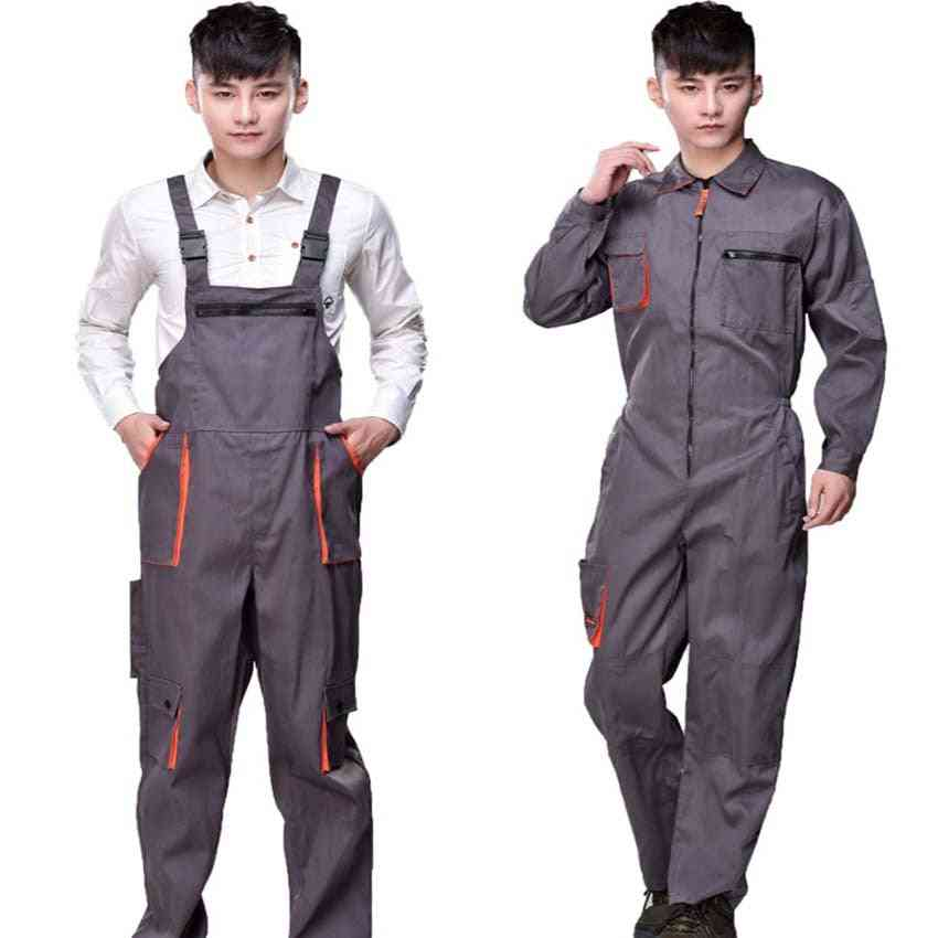 Protective Coverall Repairman Strap Jumpsuits Trousers Working Uniforms