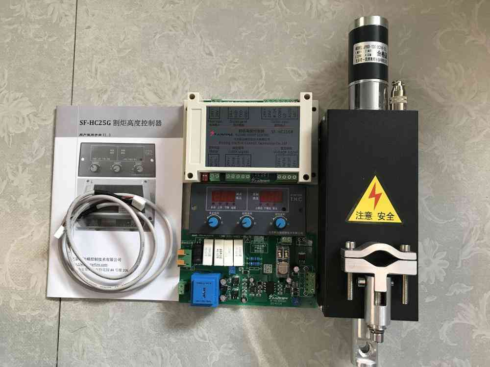 Cnc Thc Plasma Cutting Torch Height Controller Sf-hc25g With Thc Lifter Jykb-100-dc24v-t3
