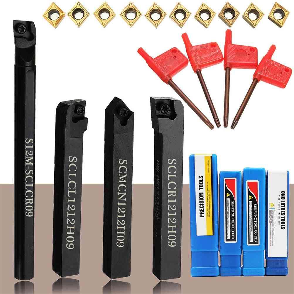 Lathe Turning Wrench, Carbide Insert Blades, Machine Tool  (black)
