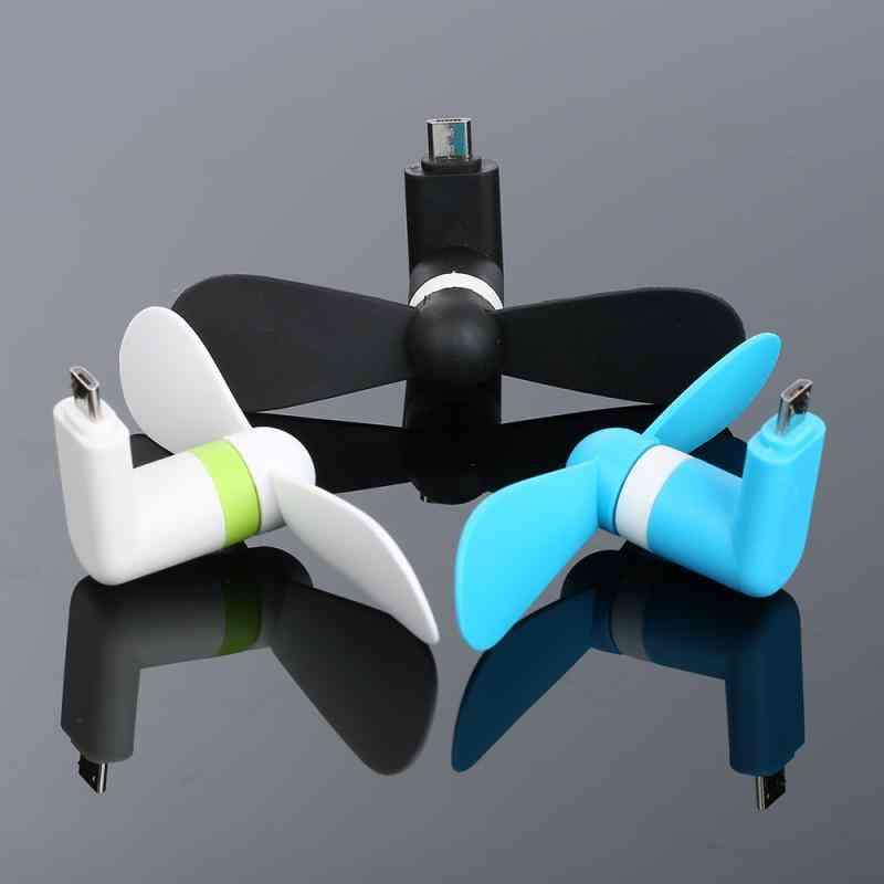 New Usb Mini Small Fan Type-c/5 Voltage For Smartphones Accessory