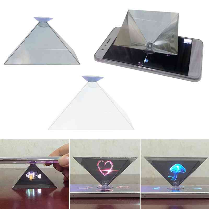 3d Hologram Pyramid, Display Projector, Video Stand