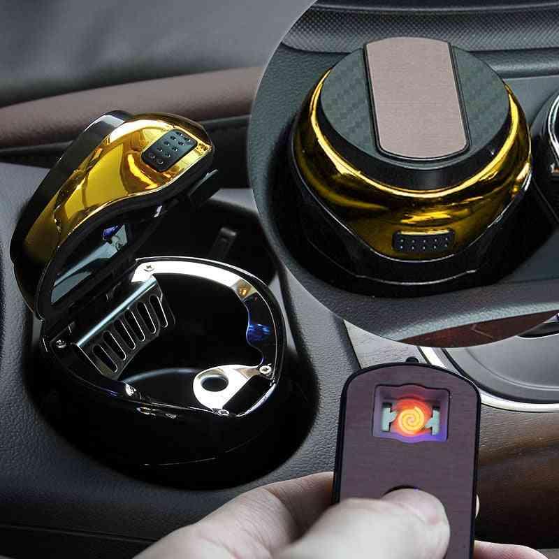 Stainless Steel, Ashtray With Led, Detachable Cigarette Lighter For Car