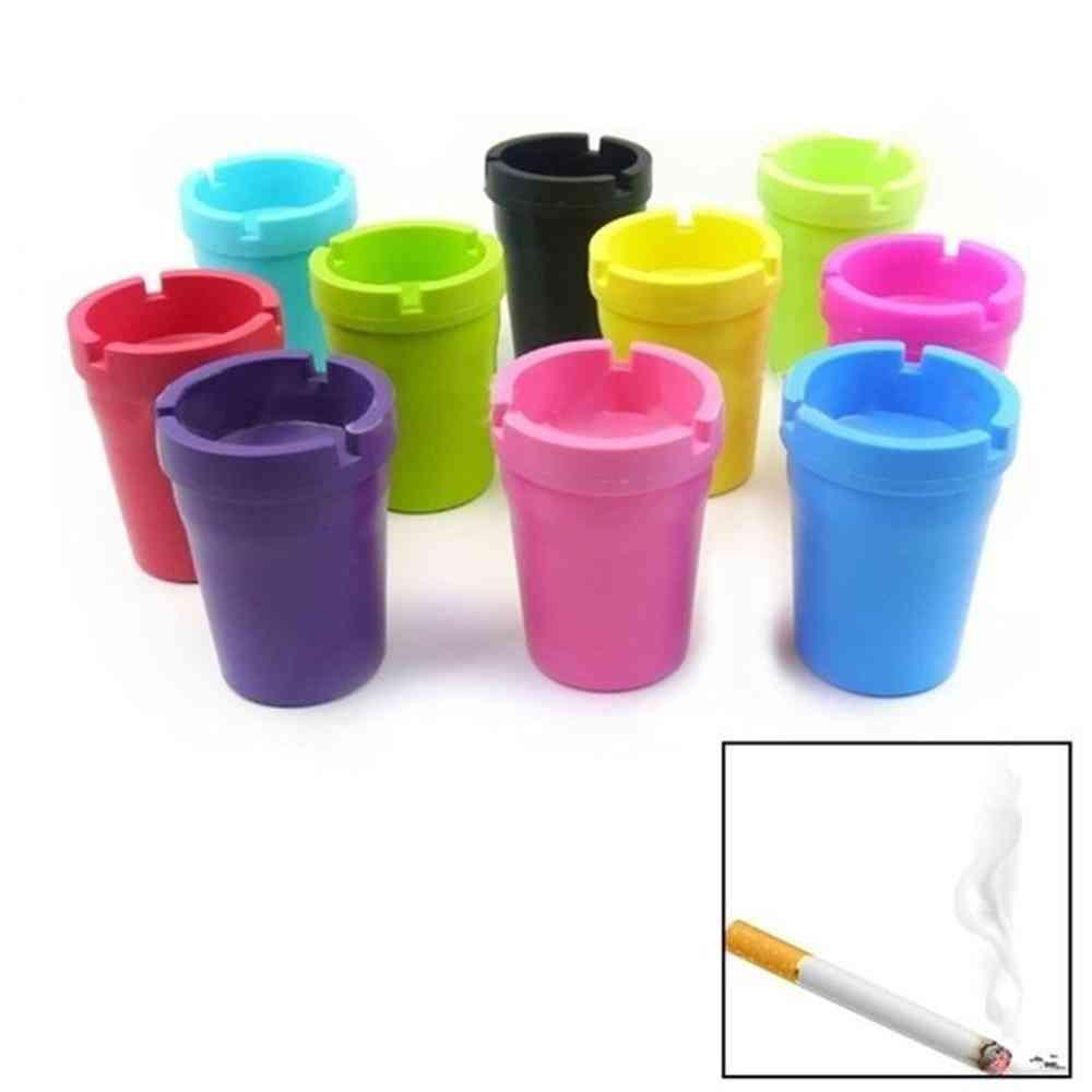 Mini Portable- Car Cigarette Cup, Butt Bucket, Smoke Ash Tray Holder