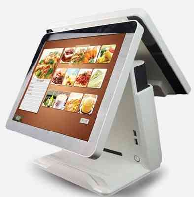 15 Inch Android Check Out Terminal With Dual Touch Lcd For Supermarket, Restaurant