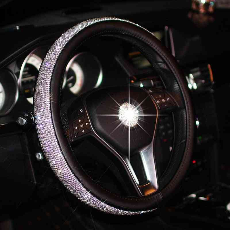 Car Leather Crystal, Steering Wheel Covers, Auto Accessories