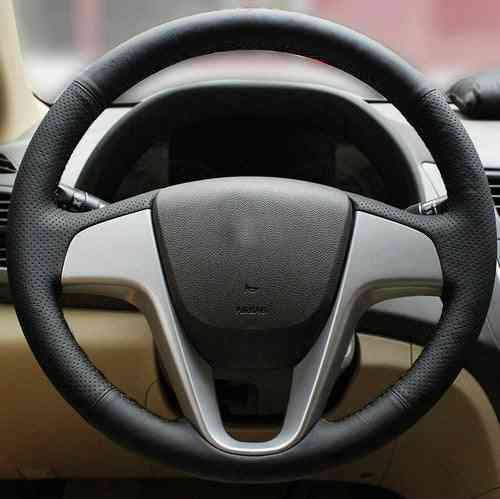 Genuine Leather Car Steering Wheels Cover F