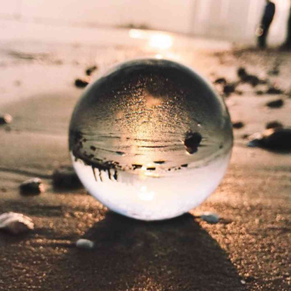 Magic Crystal Ball, Quartz Photography, Glass Sphere For Home Decoration  (clear 80mm)