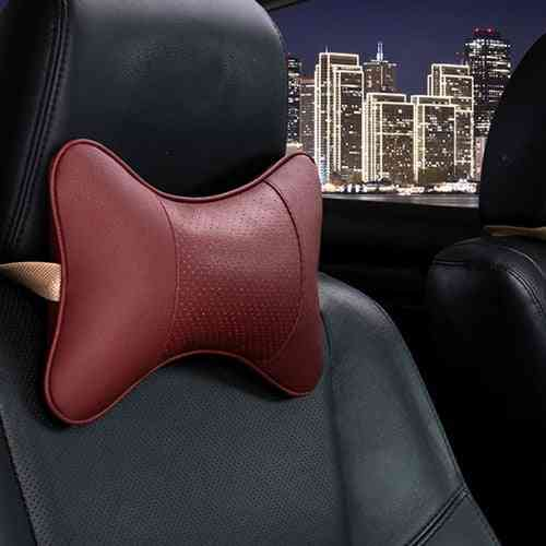 Pu Leather- Car Headrest, Neck Pillows