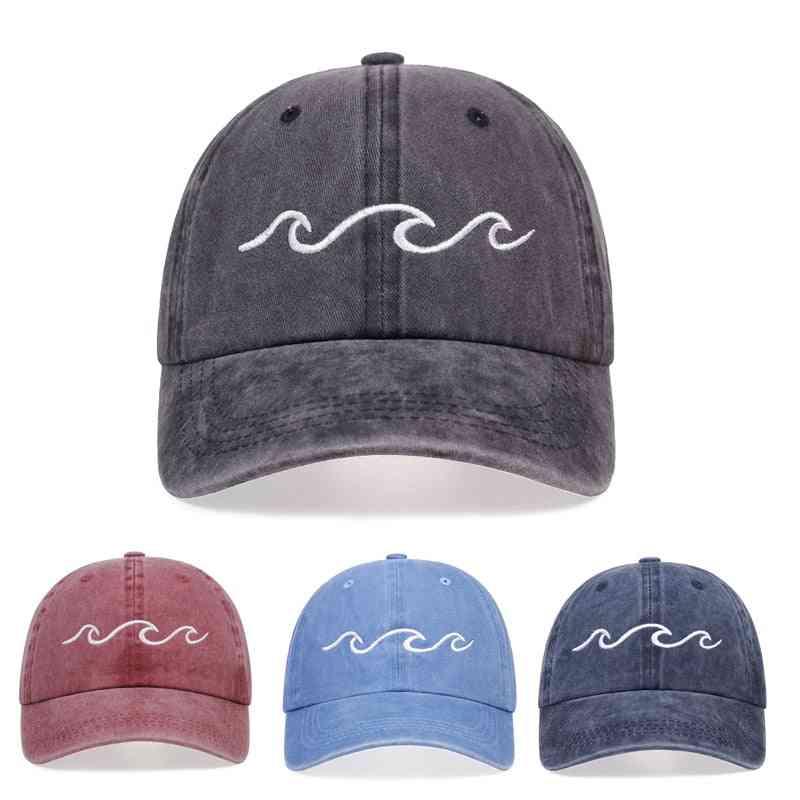 Summer Cotton Washed Baseball Cap, Outdoor Sports Women & Men Sun Hat
