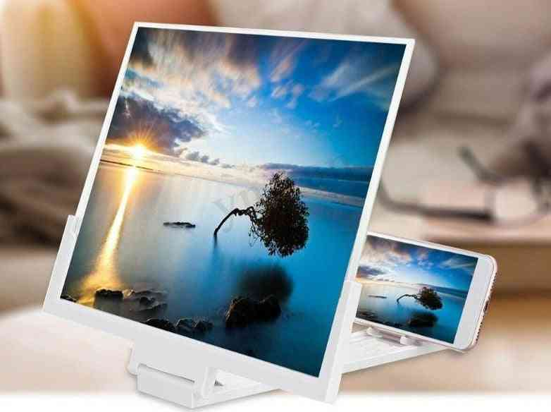High Definition- Folding Screen Amplifier, Phone Magnifier, Stand Holder