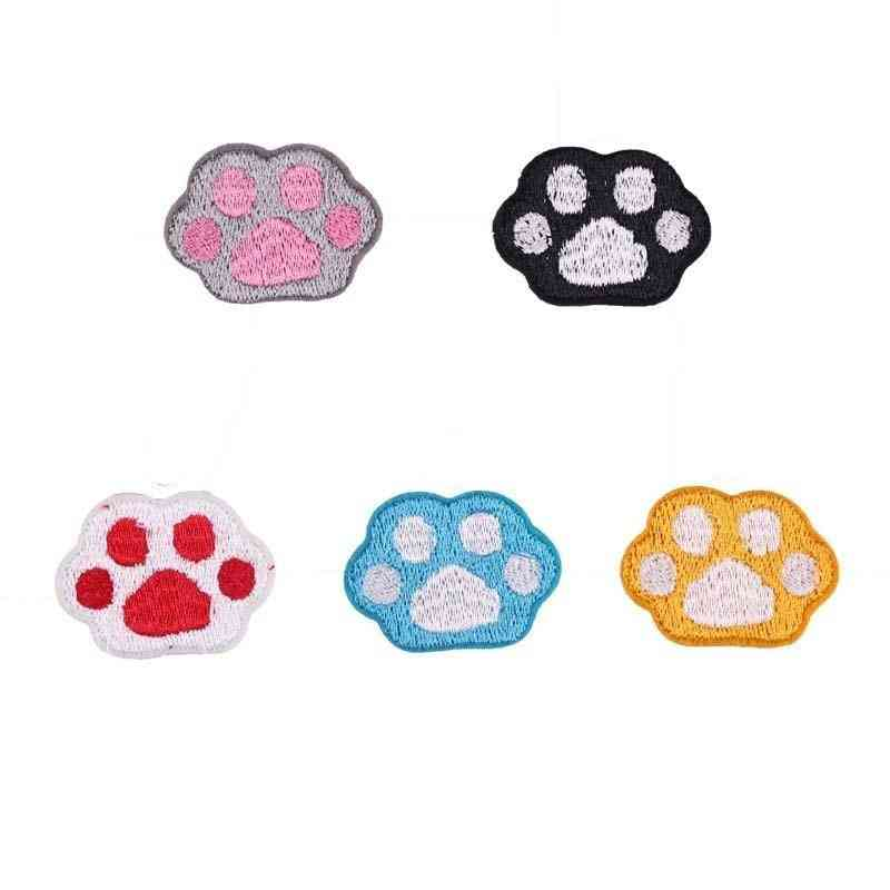 Embroidery Patch Cloth, Small Animal, Paw Print Stickers