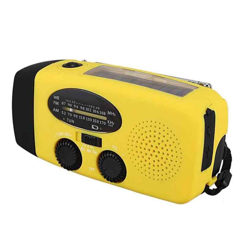 Crank Dynamo Solar Power Emergency Radio, Global Receiver