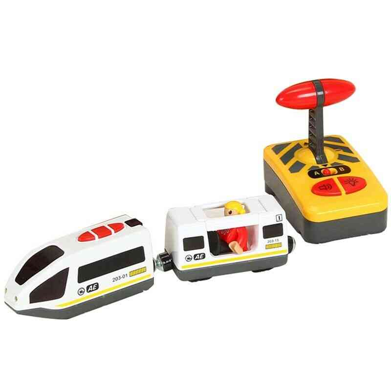 Remote Control  Magnetic Slot Compatible With Wooden Track Electric Train Toy