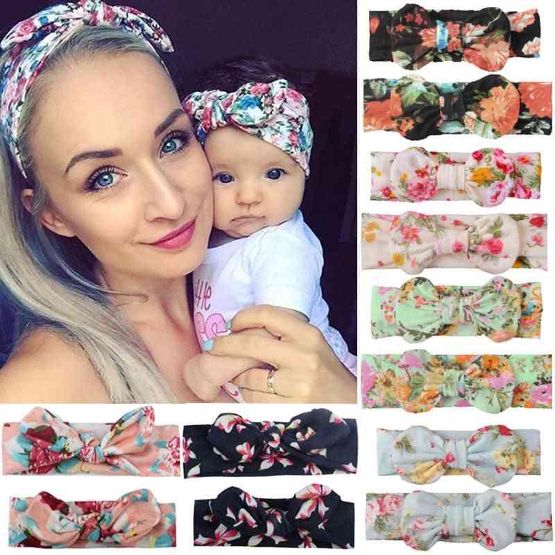 Mama & Baby Headwear Bowknot Elastic Head Bands