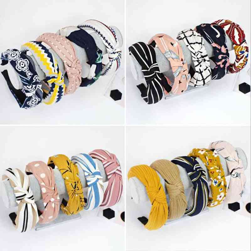 Top Knot Hair Bow, Elastic Hairband For Women