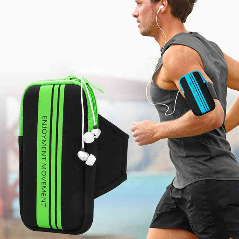 Mobile Phone Arm Band Hand Holder Case, Outdoor Sport Running Pouch