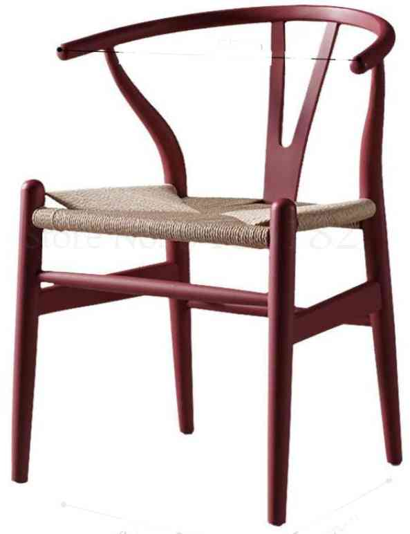 Nordic Solid Wood Home Leisure Backrest Armrest Simple Horn  Dining Chair