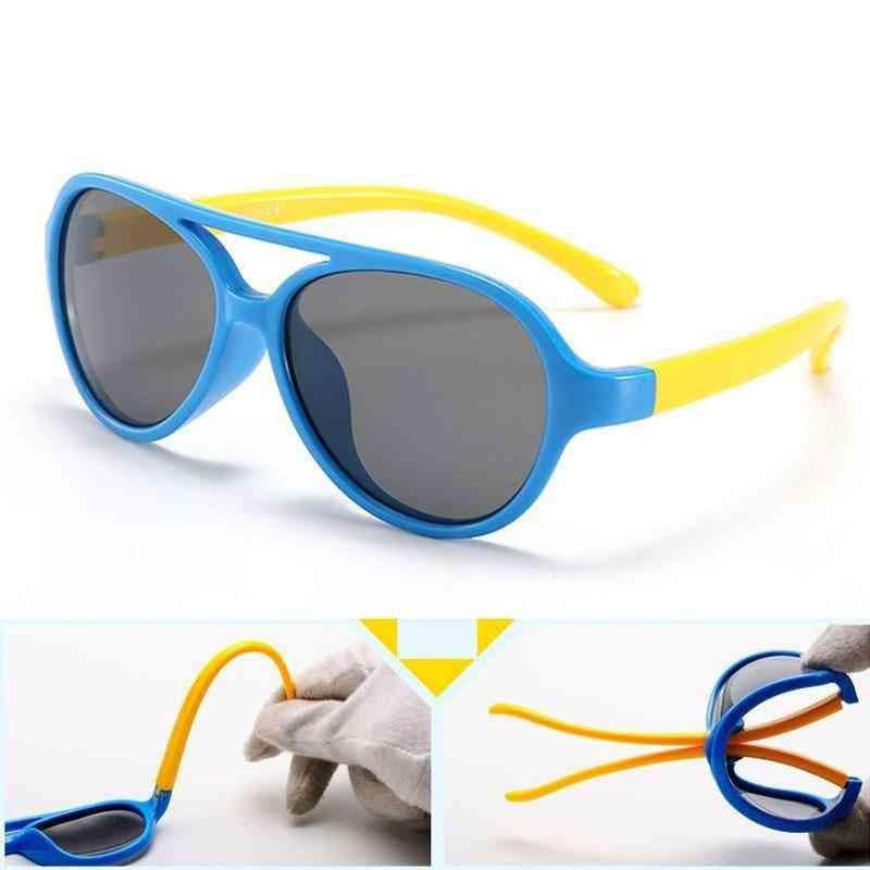 Silicone Flexible, Soft Frame Eyewear, Polarized Sunglasses