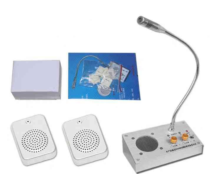 Dual-way Window, Audio Record, Intercom Interphone Speaker