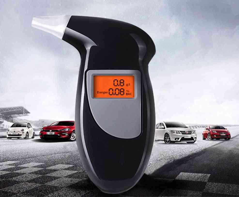Alcohol Analyzer Tester, Breathalyzer Digital Lcd, Detector Keychain Device Lcd