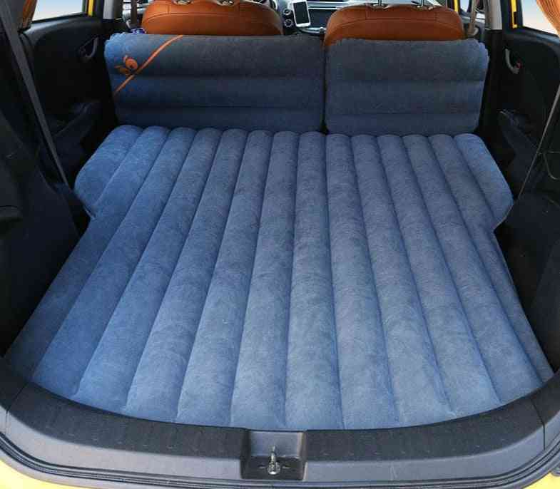Inflatable Flocking Car Mattress For Travel, Camping