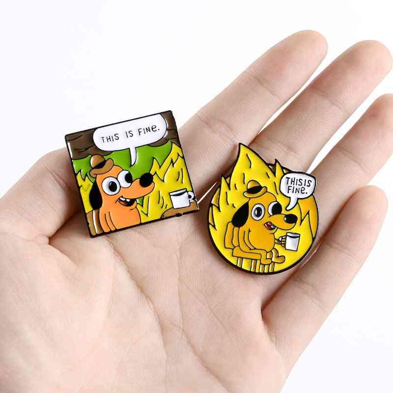 Enamel Pins, Brooches Lapel Pin, Shirt, Bag, Animal Badge, Jewelry