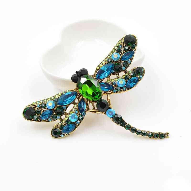 Crystal Vintage Dragonfly, Brooches Dress Coat Pin