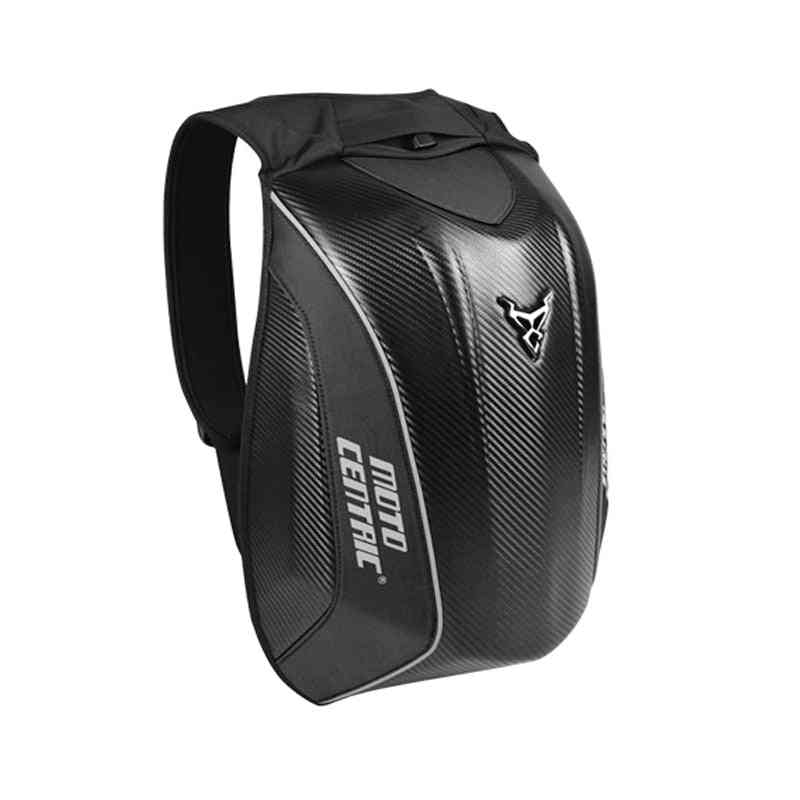 New Carbon Fiber Motorcycle Backpack, Waterproof Hard Shell Moto Bag
