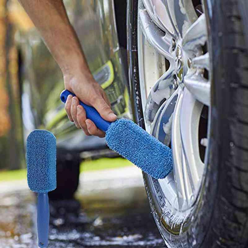 Car Window, Rims Tire Washing, Plastic Handle Brush Cleaning Tool