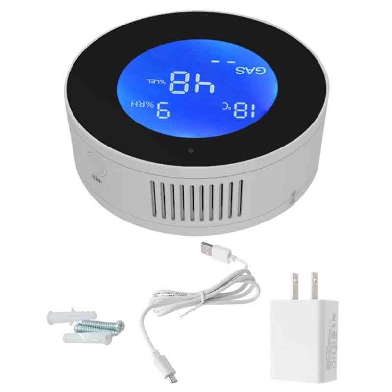 Gas Leakage Detector & Alarm Monitor, Digital Lcd Temperature Sensor