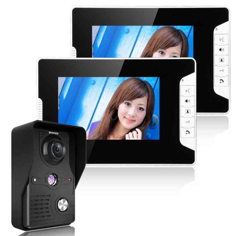 Doorbell Monitor Video Intercom With 1200tvl Outdoor Camera For Door Phone