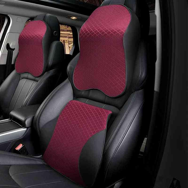 Cute Car Seat Headrest, Memory Foam Pillow
