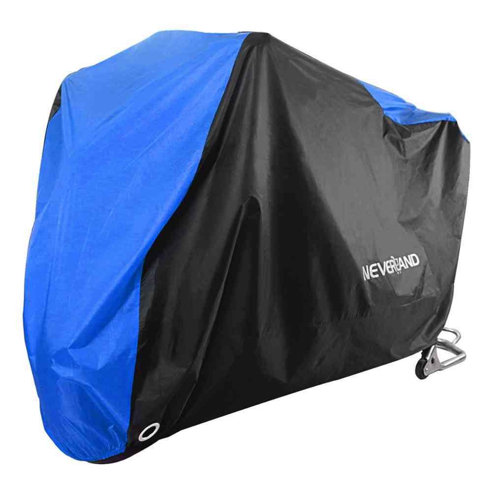 Black Blue Design Motorcycle Dust Rain Snow Uv Protector Cover