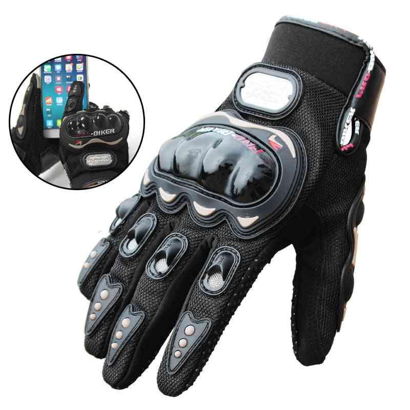 Biker Gloves, Motor Cross Full Finger Motorcycle Glove