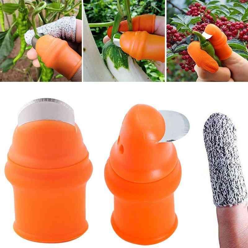 Pruning Shears Garden Picking Plant Vegetables Separator Finger Tool