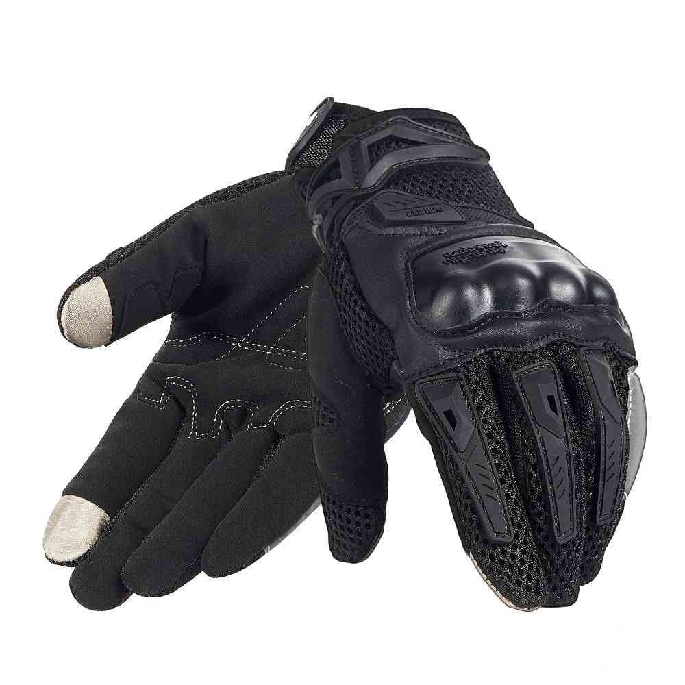 Men Touch Screen Breathable Summer Motorcycle Gloves Men