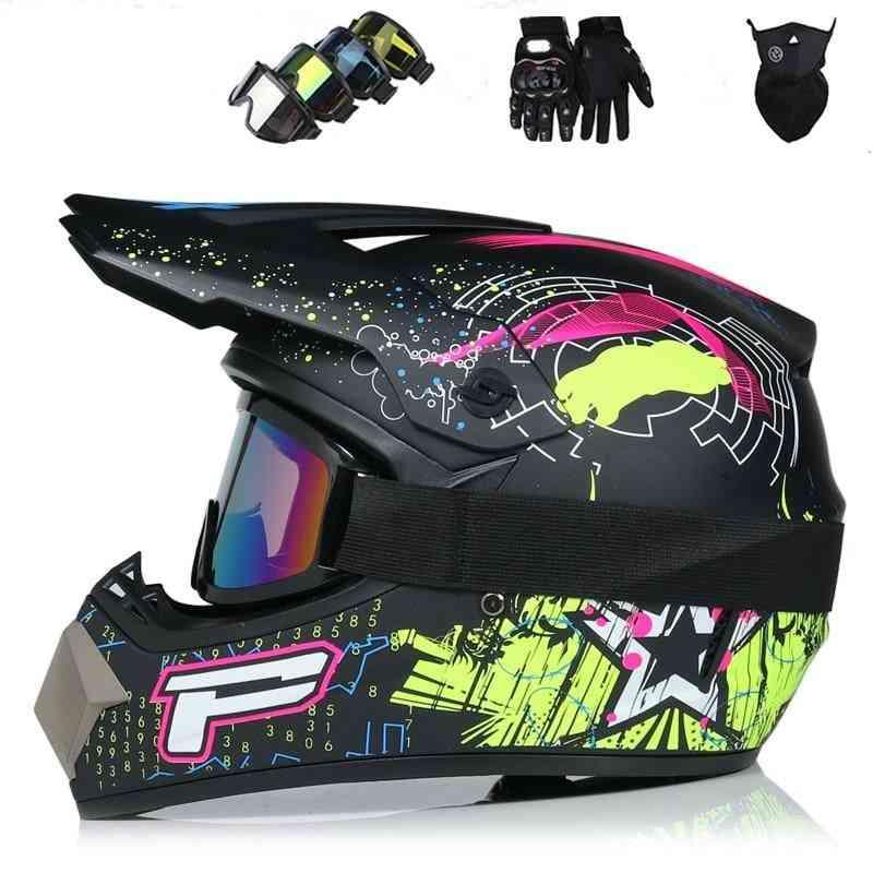 Racing Motocross, Casque Hors, Route Moto Casco, Cartoon Helmet  (1 S)