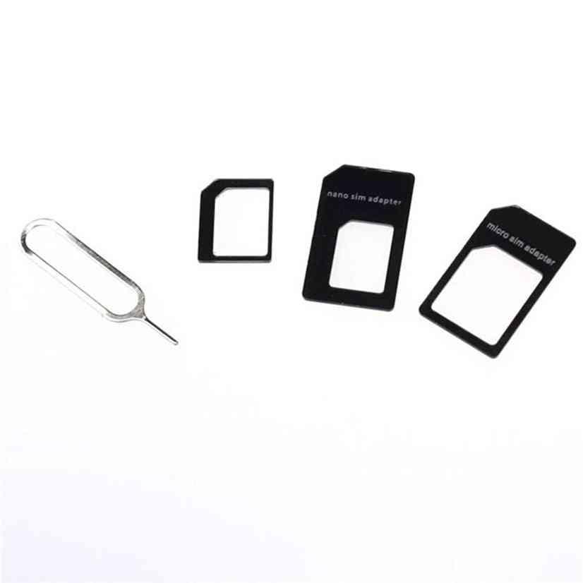 Hot Sale Convert Nano Sim Card To Micro Standard Adapter (black)