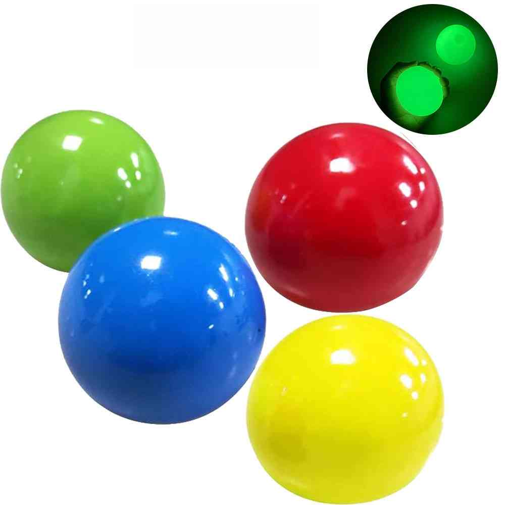 Suction Sticky Wall Luminous Ball, Adult Decompression Toy
