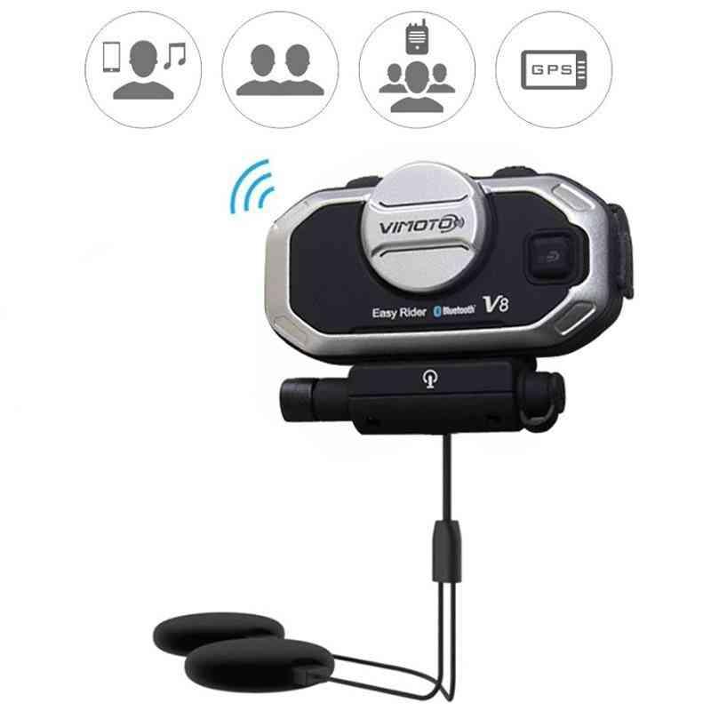 V8- Helmet Bluetooth Headset For Motorcycle Stereo Headphones