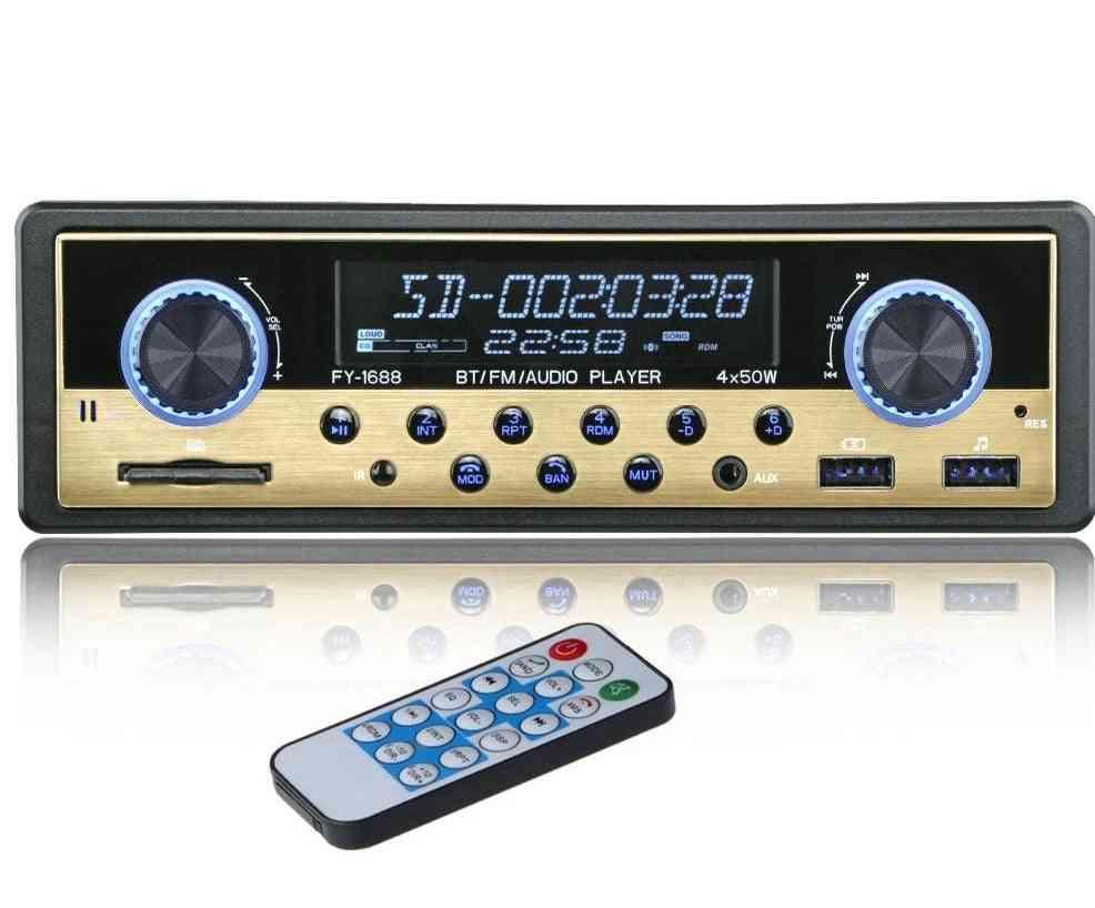 1 Din Car Radio Coche Bluetooth Stereo, Fm Receiver, Usb Sd Aux Autostereo