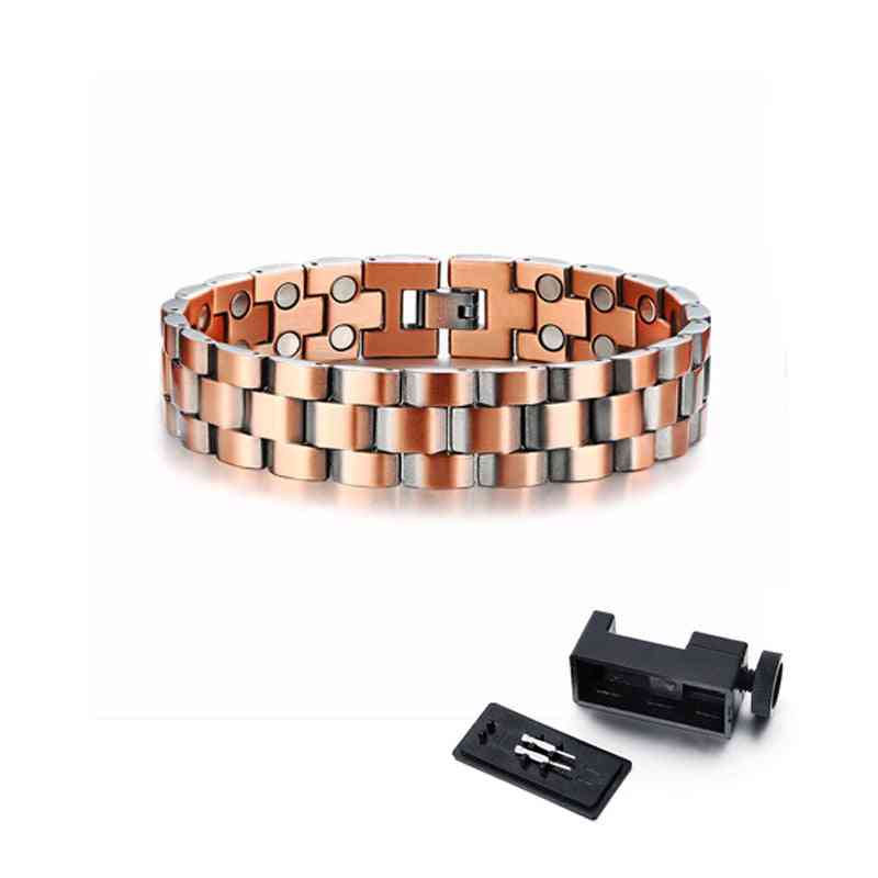 Mens Elegant Pure Copper Therapy Link Bracelet