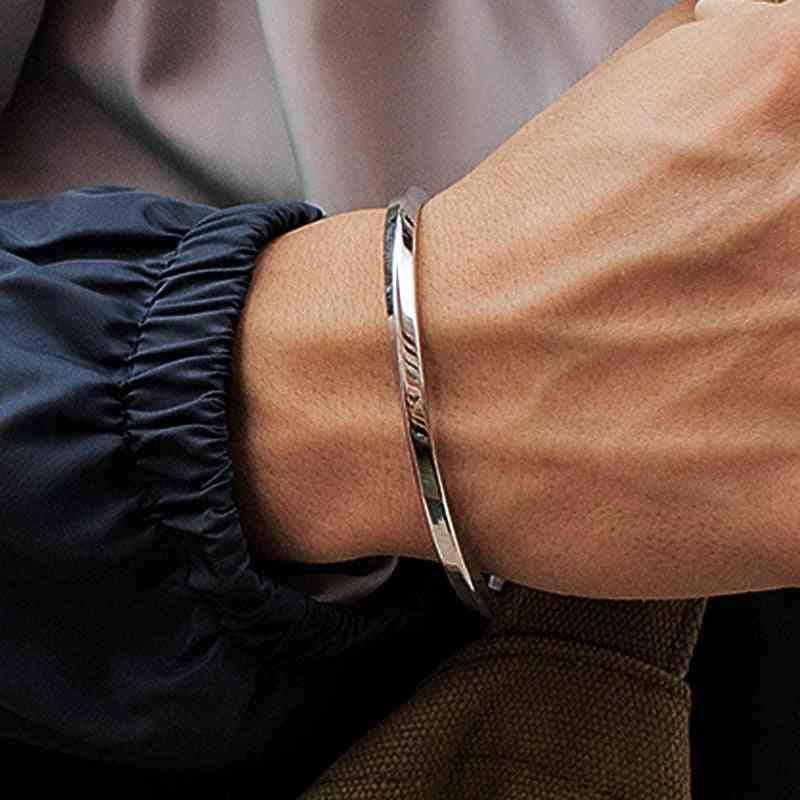 Men Gold Stainless Steel, Bracelets Cuff Bangles