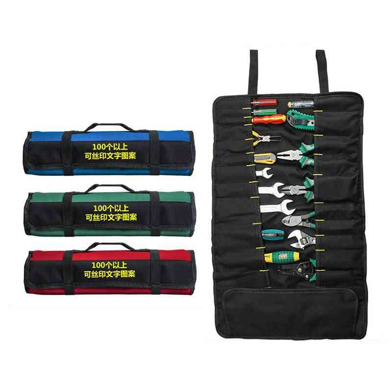 Multifunction- Oxford Cloth, Folding Wrench Roll ,storage Pocket Bag Tools
