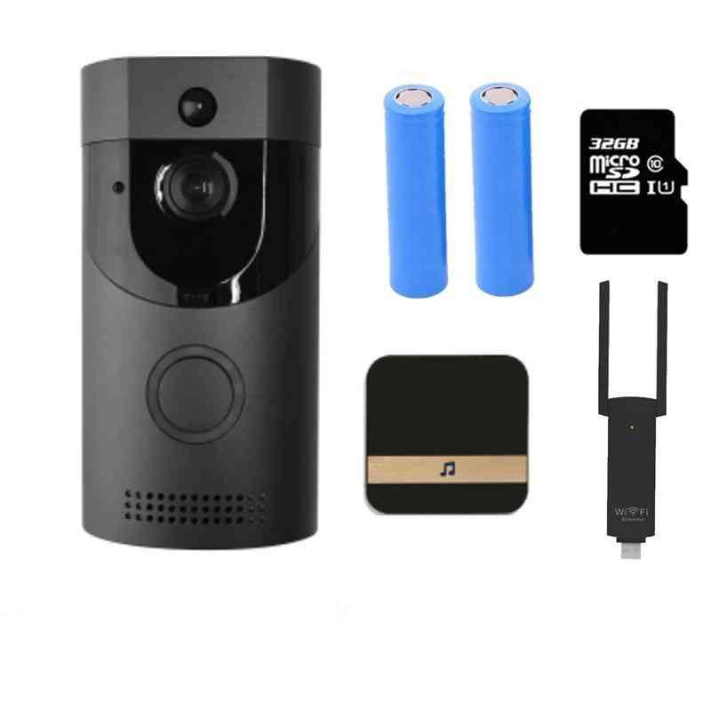 B30- Wifi Doorbell, Smart Video Door Chime, Wireless Intercom Fir Alarm, Ip Camera