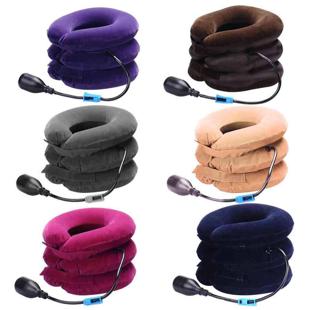 Inflatable Collar Neck Cervical Vertebra Traction Soft Brace Massage Relieve Headache